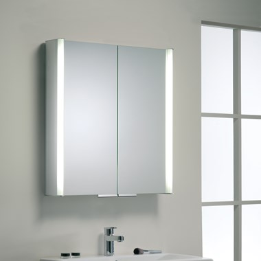 Roper Rhodes Summit Illuminated Double Mirror Glass Door Cabinet