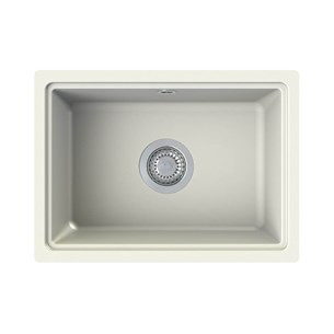 Astracast Askwith 1 Bowl Soft Cream Granite ROK® Composite Undermount Sink & Waste Kit - 500 x 363mm