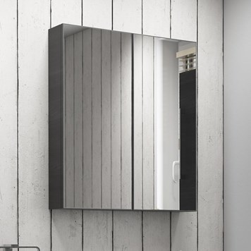 Vellamo Aspire 2 Door Mirror Cabinet - Black Ash