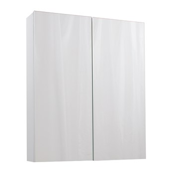Aspire 2 Door Mirror Cabinet - Gloss White