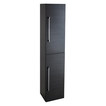 Aspire Tall 2 Door Bathroom Storage Unit - Black Ash