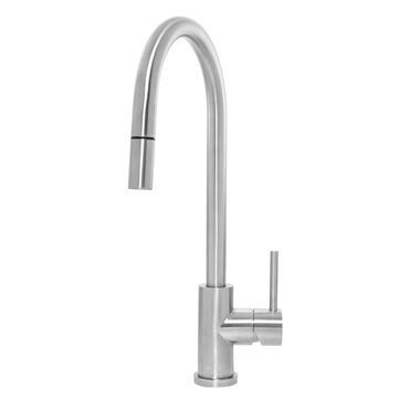 Caple Aspen Single Lever Pull Out Mono Kitchen Mixer - Stainless Steel