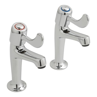 Vado Astra Lever High Neck Sink Pillar Taps
