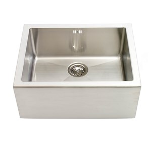 Astracast 1 Bowl Brushed Stainless Steel Belfast Kitchen Sink & Waste Kit with Bowl Grid - 600 x 465mm