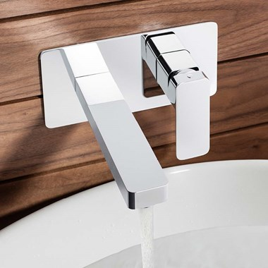 Crosswater Atoll Wall Mounted 2 Hole Basin Mixer