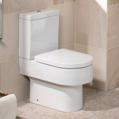 Auk Modern Close-Coupled Toilet with Soft-Close Seat