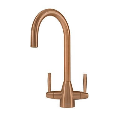 Caple Avel Twin Lever Mono Kitchen Mixer - Copper