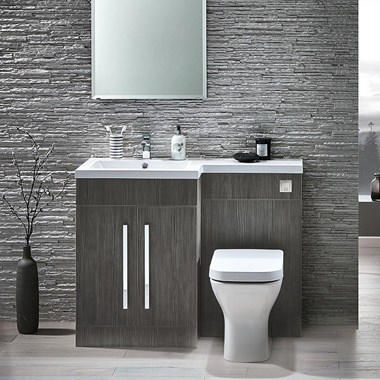 Structure 1100mm Furniture Suite inc. Vanity & Basin, Toilet & Seat and Concealed Cistern - Avola Grey