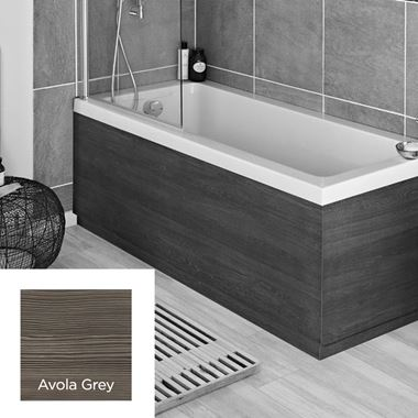 Avola Grey 1700mm Vinyl Wrap Bath Panel
