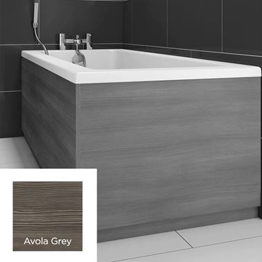 Harbour Avola Grey 800mm Vinyl Wrap Bath Panel End