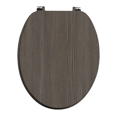 Avola Grey Vinyl Wrapped Soft Close Toilet Seat