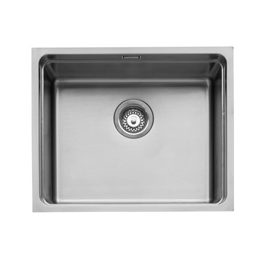 Caple Axle 1 Bowl Inset or Undermount Stainless Steel Sink with Waste & Accessory Kit - 540 x 440mm