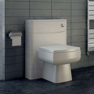 Vellamo Maya 500mm WC Back to Wall Toilet Unit - White Ash