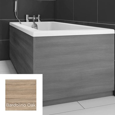 Harbour Bardolino Driftwood Oak Vinyl Wrap Bath End Panel