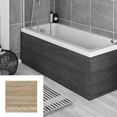 Harbour Bardolino Driftwood Oak 1700mm Vinyl Wrap Bath Panel