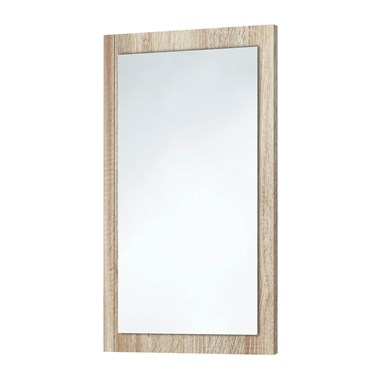 Harbour Mirror with Bardolino Driftwood Oak Frame - 800 x 500mm