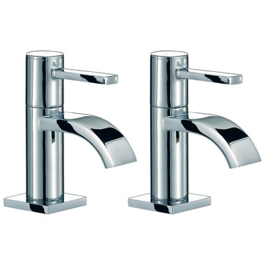 Mayfair Wave Basin Pillar Taps (Pair)