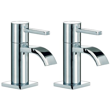 Mayfair Wave Bath Pillar Taps (Pair)