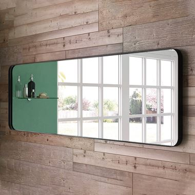 Bathroom Origins City Mirror 1500x500mm - Black