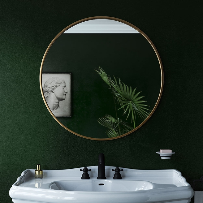 Bathroom Origins Docklands Round Mirror - 600mm