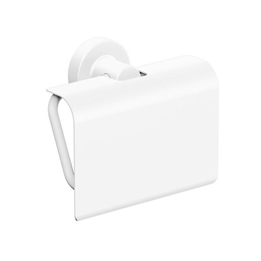 Sonia Tecno Project White Toilet Roll Holder with Flap - White
