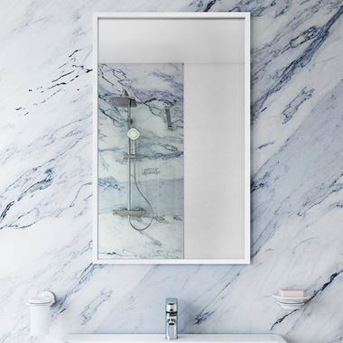 Bathroom Origins Docklands Rectangular Mirror 400x700mm - White