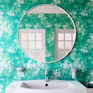 Bathroom Origins Docklands Round Mirror 600mm - White
