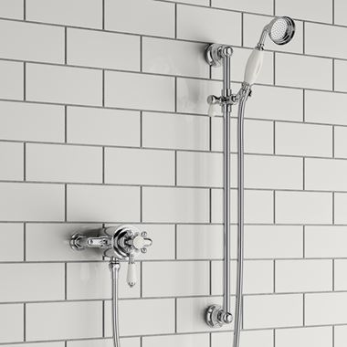 Baude Traditional Thermostatic Shower Valve & Slide Rail Kit