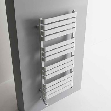 Bauhaus Celeste Towel Rail in Soft White Matte - 500 x 1100mm