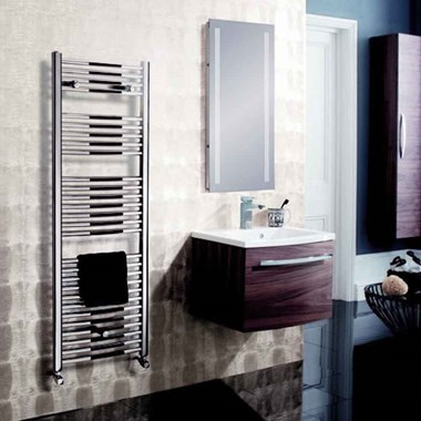 Bauhaus Design Chrome Towel Radiator