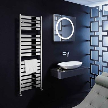Bauhaus Edge Flat Panel Towel Rail in Chrome