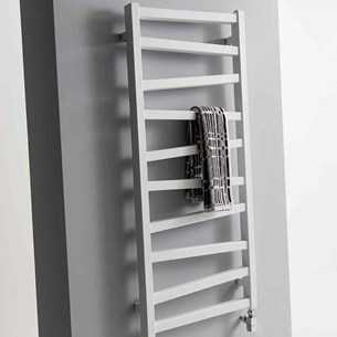 Bauhaus Wedge Towel Rail in Soft White Matte - 500 x 1096mm