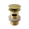Vellamo Twist Brushed Brass Basin Mixer Tap & Waste
