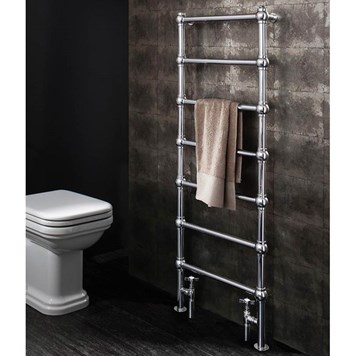 Bauhaus Belle Traditional Floorstanding Towel Rail - 505 x 1340mm