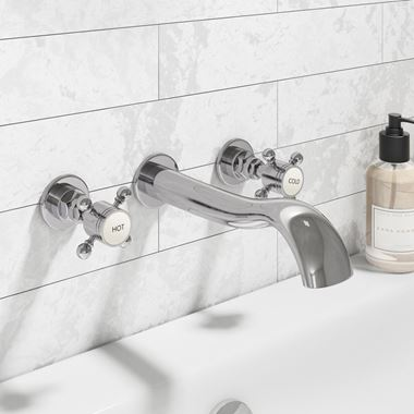 Butler & Rose Royal Traditional Wall Mounted Basin Mixer