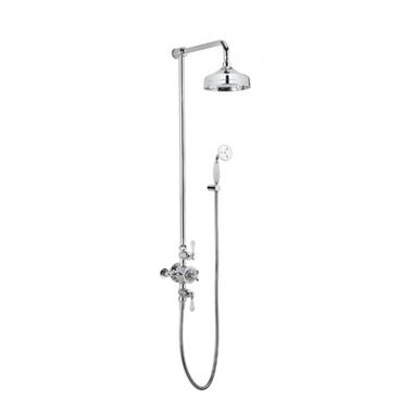 Crosswater Belgravia Multifunction Shower Valve with Handset and Bracket and 8 Inch Fixed Head