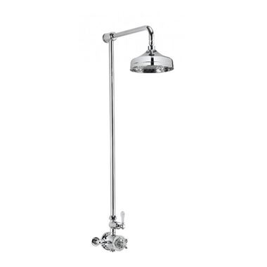Crosswater Belgravia Exposed Thermostatic Shower Valve with 8 Inch Fixed Head