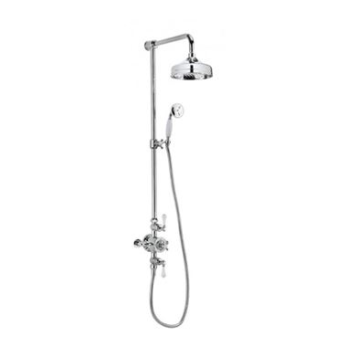 Crosswater Belgravia Multifunction Shower Valve with Slide Rail and Handset and Fixed Shower Head
