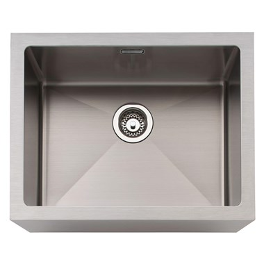 Caple Single Bowl Brushed Stainless Steel Belfast Kitchen Sink - 600 x 465mm