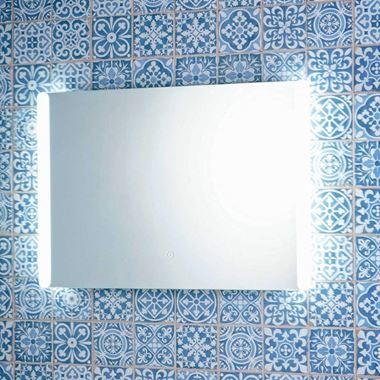 Harbour Glow LED Bathroom Mirror with Demister Pad & Shaver Socket - 500 x 700mm