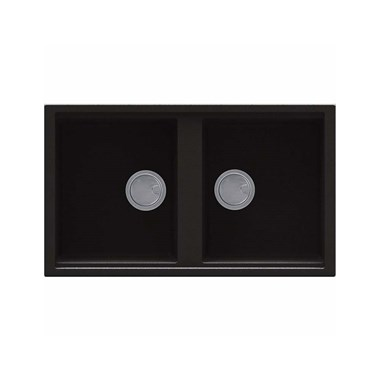 Reginox Best 450 2 Bowl Black Granite Kitchen Sink