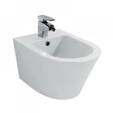 Pura Arco Wall Hung Bidet with One Tap Hole