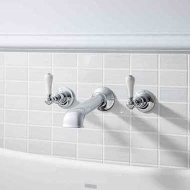 Crosswater Belgravia Lever 3 Hole Wall Mounted Basin Mixer