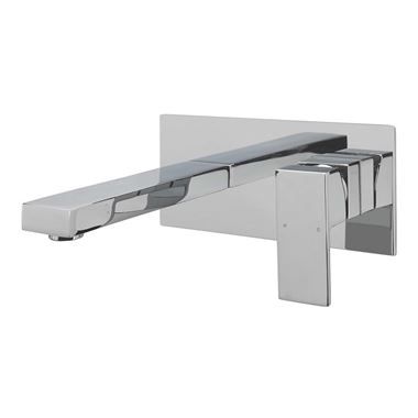 Sagittarius Blade Wall Mounted Basin Mixer Chrome