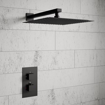 Harbour Status Concealed Shower Valve & Wall Mounted Fixed Shower Head