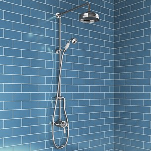 Blanche Traditional Shower Valve & Rigid Riser Kit