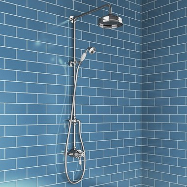 Butler & Rose Eliza Traditional Shower Valve & Rigid Riser Kit