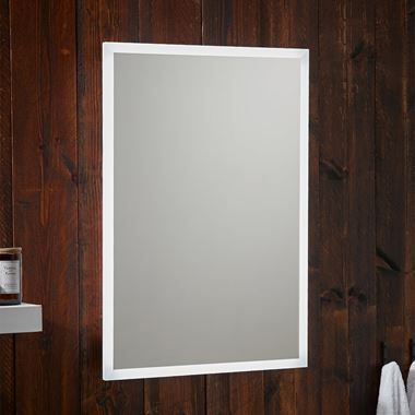 Harbour Glow LED Bluetooth Mirror with Demister Pad & Shaver Socket - 500 x 700mm