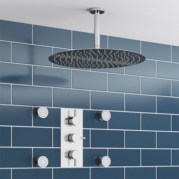 Bovoni Concealed Shower Valve with Fixed Shower Head & Body Jets