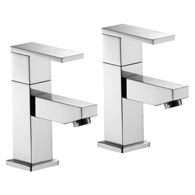 Pura Bloque Basin Pillar Taps (Pair)